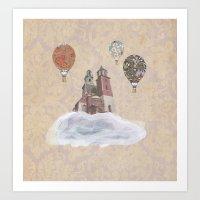 Dreamy Landscape Illustration Art Print