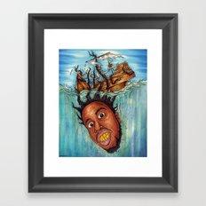 The Crackin' Framed Art Print