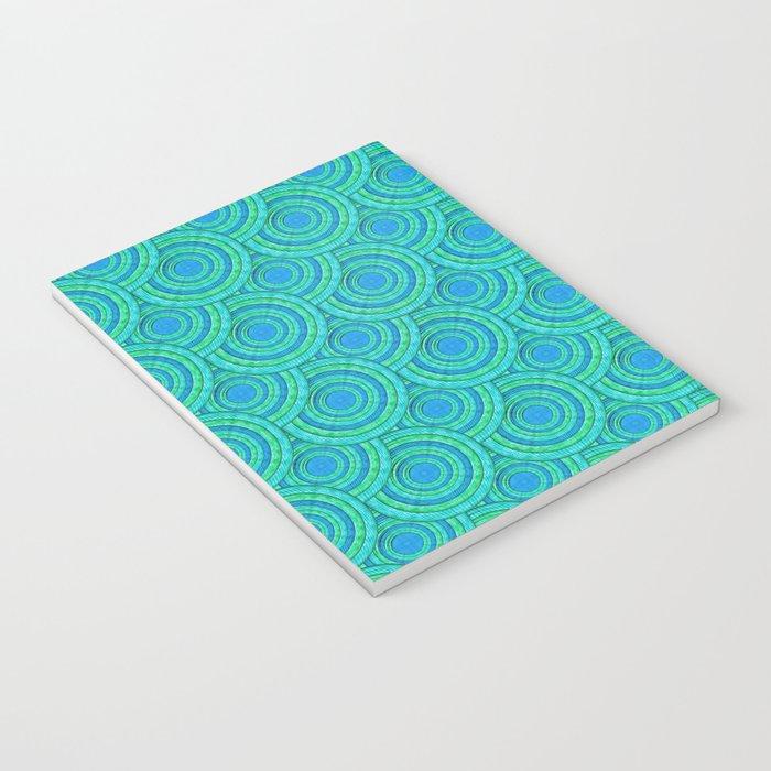 Teal Parasols Pattern Notebook