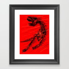 Extinction of a T Rex Framed Art Print