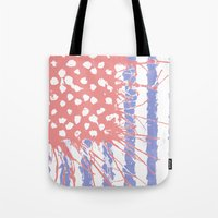 introvert Tote Bags featuring DRENCH.american introvert by instantgaram