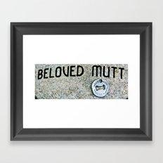In Memory of a Good Dog Framed Art Print