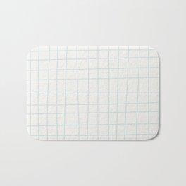 Modern minimalist ivory blush blue geometrical Bath Mat