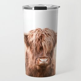 Highland Cow in a Field Southern Travel Mug