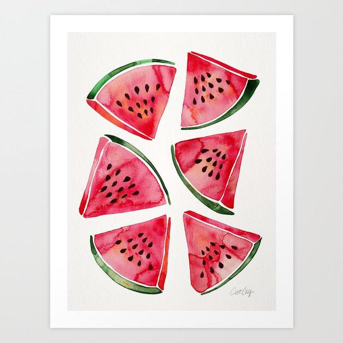 Watermelon Slices Art Print