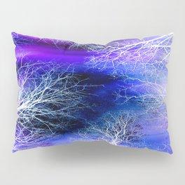 Midnight Trees Purple Blue Pillow Sham