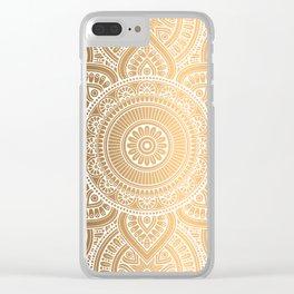 Gold Mandala 3 Clear iPhone Case