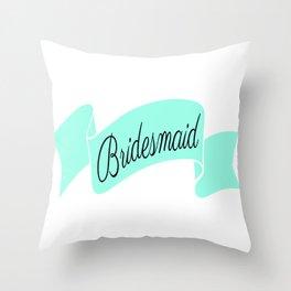 Mint Bridesmaid Throw Pillow
