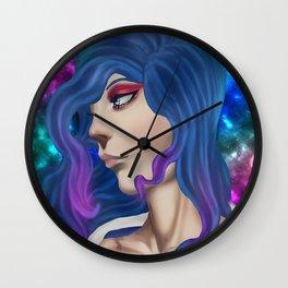 Lung cancer superhero Wall Clock