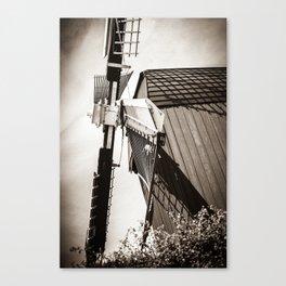 Typical Dutch Windmill in Bourtange (The Netherlands) Groningen Canvas Print