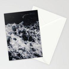 OCEAN - WAVES - SEA - ROCKS - DARK - WATER Stationery Cards