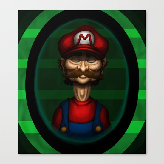Sad Mario Canvas Print