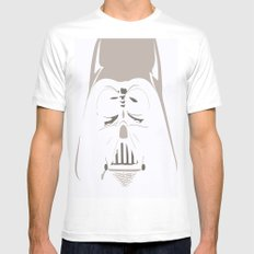 Ghost Darth Vader White Mens Fitted Tee MEDIUM