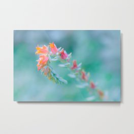 Tiny Gentle Blossoms In Soft Pastel Colours Metal Print