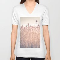 cape cod V-neck T-shirts featuring Cape Cod Salt Marsh by ELIZABETH THOMAS Photography of Cape Cod