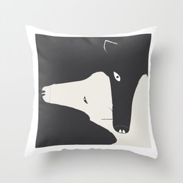 the hug Throw Pillow
