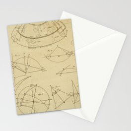 Jérôme Lalande's Astronomie (1771) - Geometric Calculations regarding Planetary Bodies 12 Stationery Cards