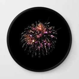 Fireworks 15 Wall Clock