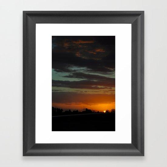 Orlando International Sunset Framed Art Print