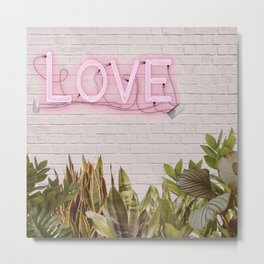 Love Sign Metal Print