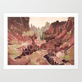 Petal Valley Art Print