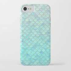 Teal Mermaid Scales iPhone 7 Slim Case