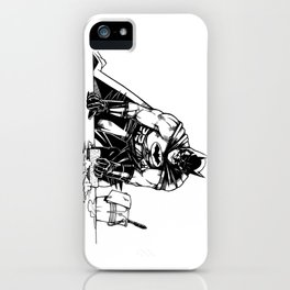 Cleaning up Gotham City iPhone Case
