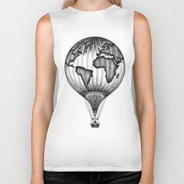 EXPLORE. THE WORLD IS YOURS. (No text) Biker Tank