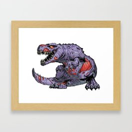 ZomBsaurus Rex purple Framed Art Print