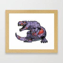 ZomBsaurus Rex purple Framed Art Print