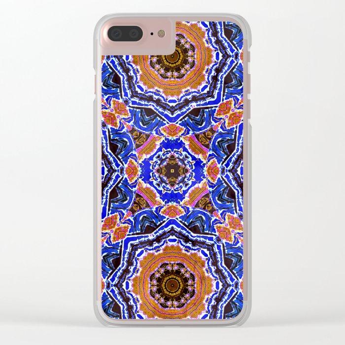 Tiled Kaleidoscope Mandalas Clear iPhone Case