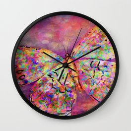 Ascending Butterfly Wall Clock
