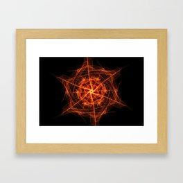 Orange Fireburst Framed Art Print