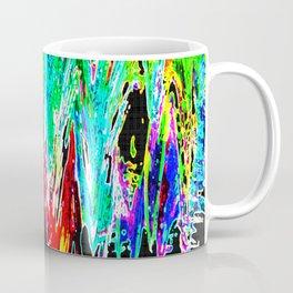 Colored waves on a black base Coffee Mug