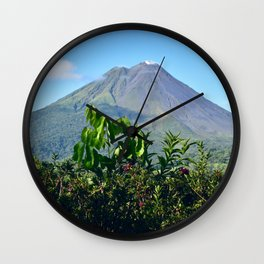 Arenal Volcano Wall Clock