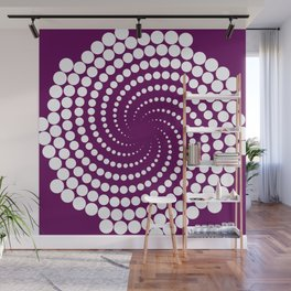white and purple Wall Mural