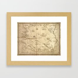 Map of Imirillia Framed Art Print