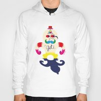 yeti Hoodies featuring Yeti by Lucy Irving