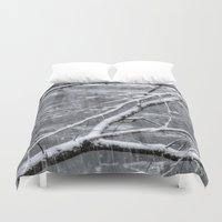 river song Duvet Covers featuring Winter's Song by Joann Vitali