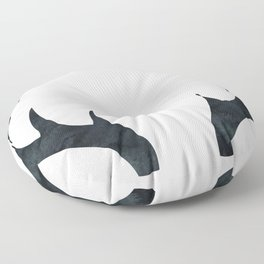 Antlers Black and White Floor Pillow