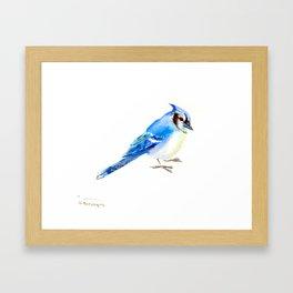 Blue Jay design. blue jay home decor Framed Art Print