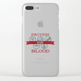 Faction Before Blood Clear iPhone Case
