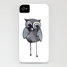 The Friendly Owl - White Background Slim Case iPhone (4, 4s)