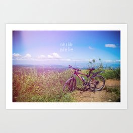 bike = freedom Art Print