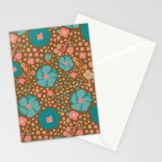Town Square Floral Stationery Cards