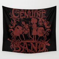 band Wall Tapestries featuring Genuine Band by Crumblin' Cookie