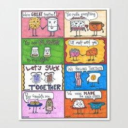 Kitchen Romances  Canvas Print