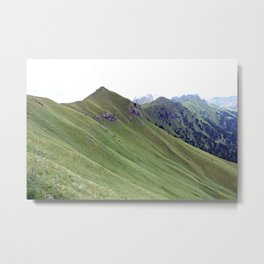 Alps Mountain Ridge Spring Landscape Metal Print
