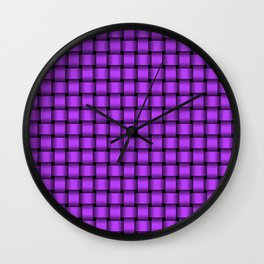 Small Light Violet Weave Wall Clock