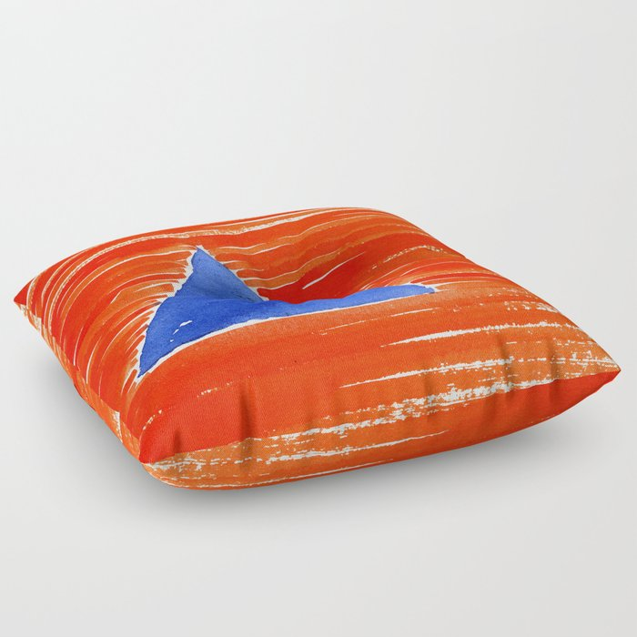 Orange Floor Pillows : orange desert Floor Pillow by panagiotastaikou Society6